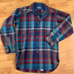 Pendleton flannel medium red-blue-green virginwool